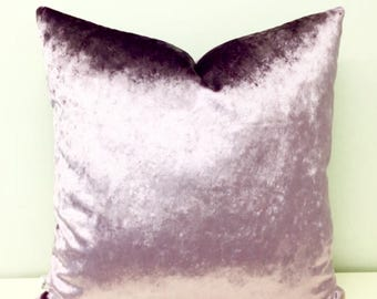 Lilac Velvet Pillow Cover, Lilac Pillow, Velvet Pillow, Throw Pillow, Velvet Cushion, Decorative Luxury Pillows, Lilac Velvet Pillow Covers