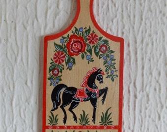 """Cutting desk beech wood hand made acrylic paint """"Gorodetsky Horse"""""""
