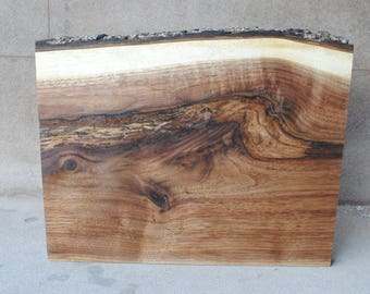 Hand Sanded Live Edge Black Walnut Serving Board