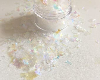 Iridescent ice mylar flake glitter pot