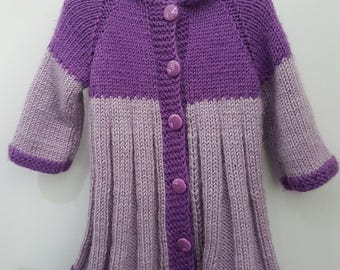 Cardigan, jacket, baby apparel, kids clothes, handmade Wool Cardigan Wool Cardigan.
