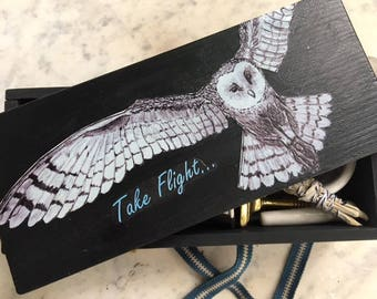 OOAK Owl Travel Altar - 'Take Flight' Pagan, Wiccan, Witch Altar