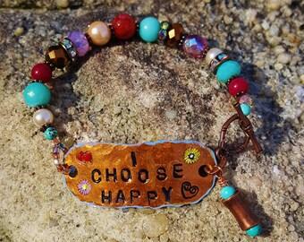 Handstamped Message Bracelet
