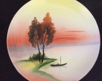 Noritake Morimura - Japan- Landscape - Hand Painted - Plate