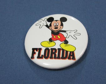 Vintage Mickey Mouse Disney Florid Pin Made in USA