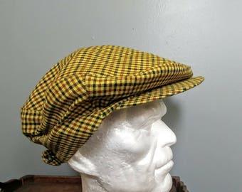 Vintage Lightweight Flat Cap Hat // Newsboy Hat // Retro Driver's Cap // Whitehall Hats & Caps