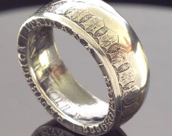 Italy 500 Lira Silver Coin Ring (1958-2001)