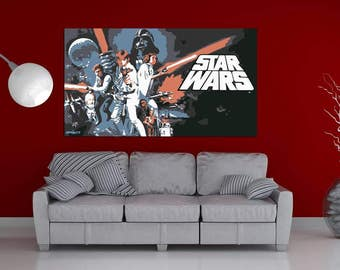 Star Wars pop art painting hand painted