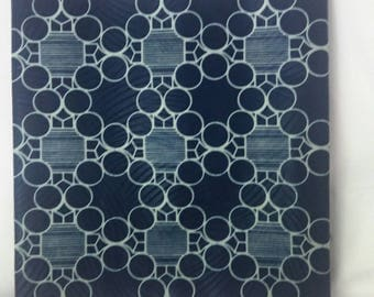 Wax cotton fabric printed