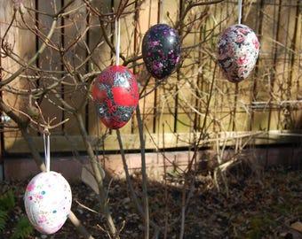 Patchwork eggs - Easter eggs