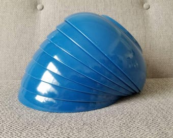 Vintage Blue Melamine Bowls