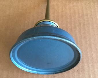 Vintage Eagle oil can, blue enamel