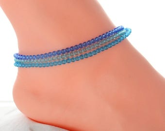 Blue blue anklet, girlfriend gift