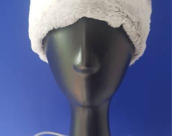 Grey Faux Fur Infinity Headband