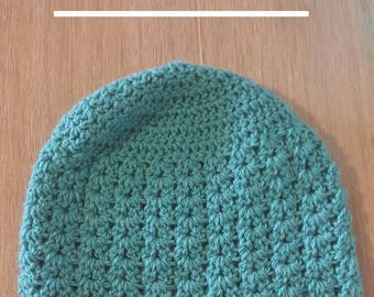 Girls Beanie using a V Cluster Stitch