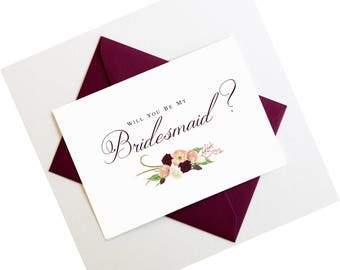 Will You Be My Bridesmaid Proposal Card | Will You Be My Maid of Honor Card | Bridesmaid Invitation | Bridal Party Card | Style #LGW2172