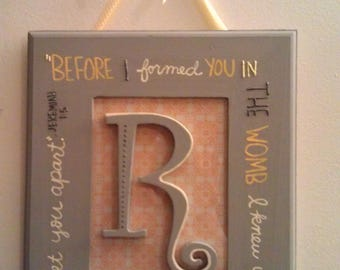 Before I formed you Baby Gift Wall Hanging