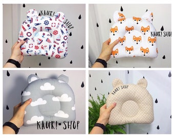 Custom Order pillow.Cotton Newborn Baby Infant Pillow Neck Support Cot Anti Roll Prevent Flat Head