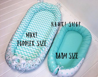 Toddler size baby nest with REMOVABLE MATTRESS,Baby nest, co sleeper, babynest, sleep nest, baby shower, baby co sleeper, snuggle nest,cot.