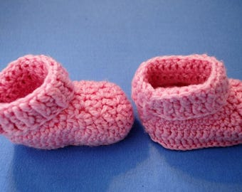Wool Baby Slippers - Pink