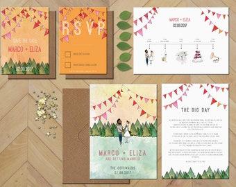 Forest Wedding Invitation - Silver Tier