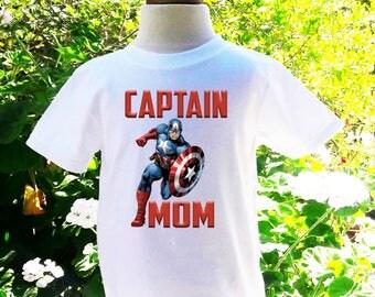 Captain America Mom of the Birthday Boy Captain America Custom Shirt Captain America Birthday Shirt Mom Custom Birthday Shirt-CA004