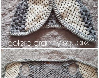 SAMPLE SALE! Crochet Bolero Granny Square