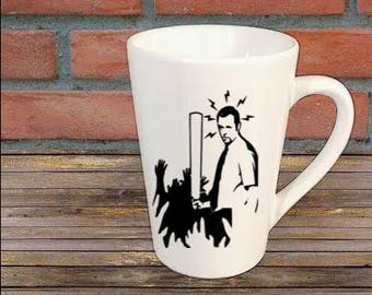 Shaun of the Dead Zombie Horror Mug Coffee Cup Halloween Gift Home Decor Kitchen Bar Gift for Her Him