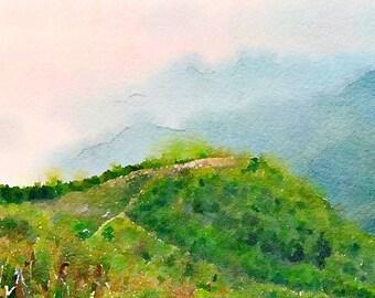 Chiang Rai Thailand Original Watercolour Painting Q85