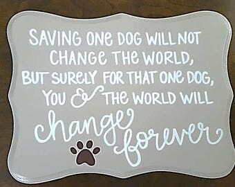 Custom Hand-painted Wood sign - home decor, wall decor, wooden plaque, love of dogs