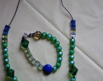 Flourish and Nourish  Blue and Green Jewelry