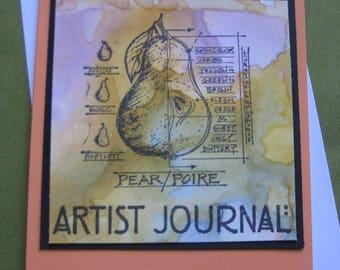 """Handmade Card - """"Artists Journal"""""""