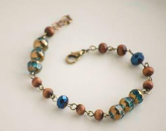 Boho Brown Blue Bracelet