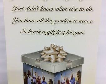 Host/Hostess, Gift Card Holder. SET OF 4. Holiday gift card holder. BBQ gift card holder. Dinner party gift card holder.