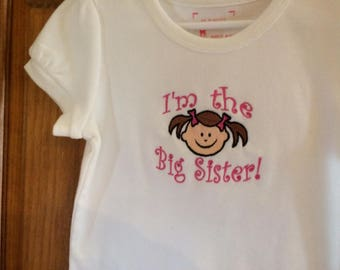 I'm The Big Sister Shirt size 5T