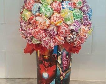 Dum Dum Lollipop Candy Bouquet / Centerpiece
