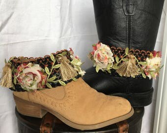 Boho boot belt, boot cuffs,boho boot, gypsy boots, boot decor, cowboy boots, festival boot accessories, hippie boots, boho fashion