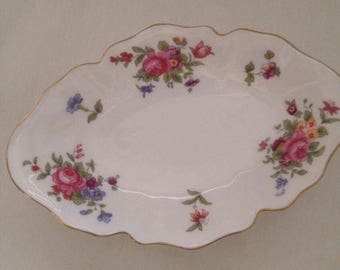 Floral Rose Crown Staffordshire Fine Bone China Dish