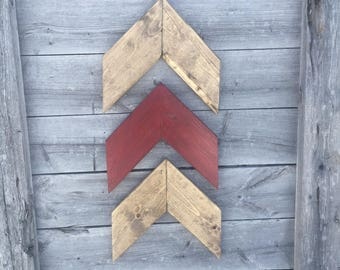 Chevron Wall Arrows- Chevron Arrows- rustic arrows- rustic wooden chevron arrow- wooden wall art- wall decor- home decor- set of 3