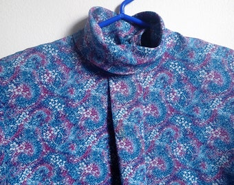 Country Sophisticates by Pendleton 1980's teal and magenta swirl blouse