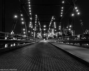 City Lights Photography | Bridge | Harrisburg,PA | Instant Download | Architecture Photography | Printable Digital File | Digital Download