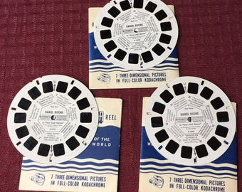1965 View-Master Reels Daniel Boone in Four Leaf Clover 4791, 4792, 4793