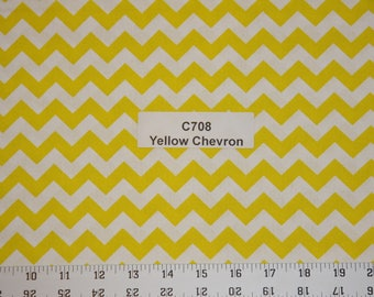 Yellow Chevron Cotton Fabric  SHIPS FAST Chevron Cotton fabric for quilting sewing crafts clothing fabric store free shipping available
