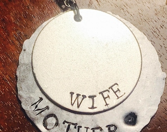 Wife/Mother Riveted Necklace