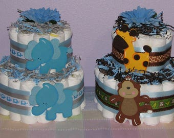 Diaper Cake Centerpieces for Baby Shower Decorations