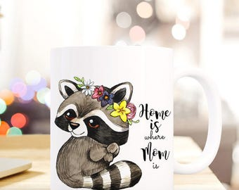Gift coffee cup raccoon MOM mother's day TS423
