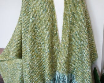 Susan Wrap in spring greens and blues