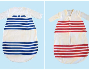 baby sleeping bag stripe