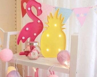 Lamp pineapple or Flamingo Pink