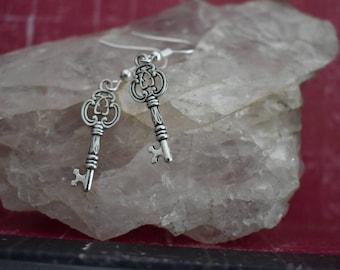 Skeleton key earrings